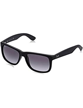 Ray-Ban Justin RB4165 - Gafas de sol Unisex, Negro (Black Rubber), 51 mm