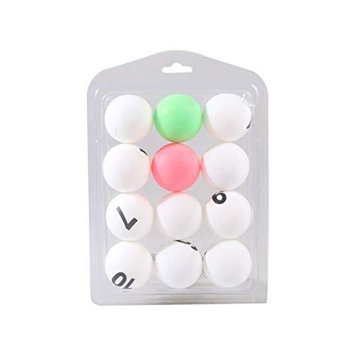 NiceButy 12st Tischtennisball mit Nummber 3 Sterne Plus 40mm Orange Tischtennis, Weiterbildung Tischtennis Mischungsfarbe und weiß Outdoor-Sport-Produkte