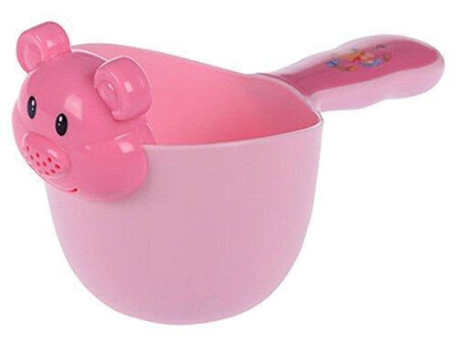 Baby-Badewasser -Löffel / Baby Shampoo Spielzeug Wasser Bailer Kelle Blau Rose