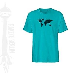 FairTrade Herren T-Shirt 'Weltkarte gezeichnet' Bio-Baumwolle