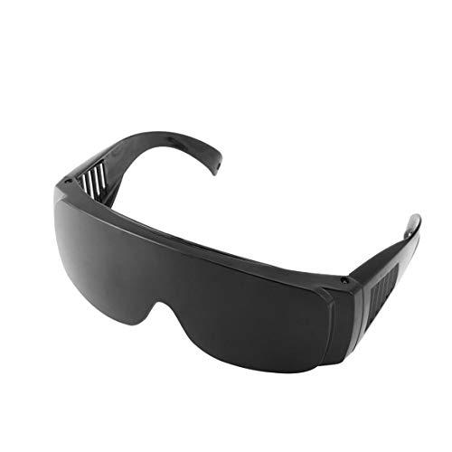 Funnyrunstore Sicherheits Augenschutz Staubdicht Brille Schweißen Schutzbrille Opt/E Licht/IPL/Photon Schönheit Instrument rot Laserschutzbrille (Farbe: schwarz)