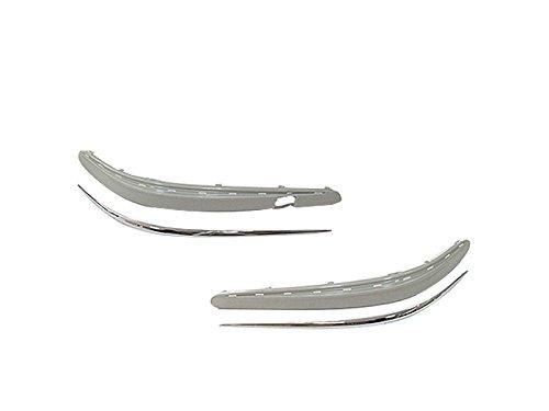 DELTALIP non verniciato Paraurti Anteriore modellato a righe + Chrome Trim per Mercedes Benz W21103-06