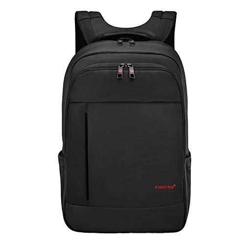 Tigernu Business Laptop Rucksack Daypack für Schule Reisen Uni Arbeit Damen Herren 15,6-17 Zoll Schwarz