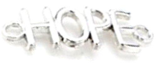 dojore 20x Hope Anschluss Charms. Bronze oder Silber. 13mm x 37mm. Perfekt für Perlen, Kordel & Makramee Designs. verhakte Ergebnisse für einzigartige Schmuck, silber, 13mm x 37mm
