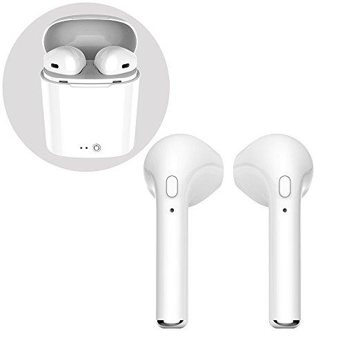 Zling auricolari wireless bluetooth senza fili,cuffie bluetooth con microfono integrato e base di ricarica,per iphone, samsung ed altri smartphone