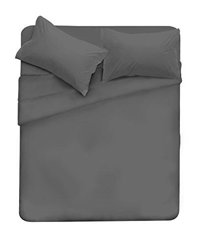 Elegant completo letto, microfibra, cl el grigio scuro 2pst, matrimoniale, 47x35x4 cm