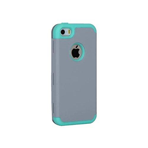 iPhone 5 5S 5C Hülle,iPhone SE Hülle,Lantier Slim Matt Matt Finish Design Shockproof Hybrid Dual Layer Defender Schutz Fall Deckung für Apple iPhone 5/5S/5C/SE Rose Gold+Rosa Grey+Mint Green