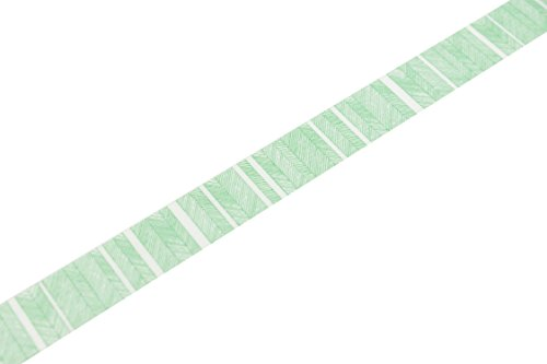 MT Washi Script Border Masking Tape Roll – Green