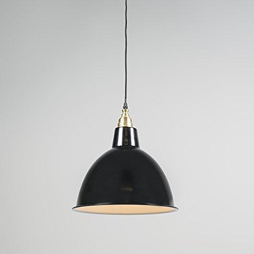 QAZQA Modern 2-flammiger-Set Pendelleuchte / Pendellampe / Hängelampe / Lampe / Leuchte Strijp O schwarz / Innenbeleuchtung / Wohnzimmer / Schlafzimmer / Küche Metall Rund LED geeignet E27 Max. 2 x 40 - 7