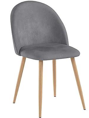 coavas sillas de Comedor de Terciopelo Conjunto de 2 de DHHX