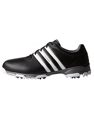 adidas Men's 360 Traxion WD Golf Shoes, Black (Core Black/White/Iron