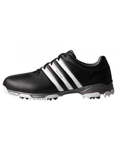 adidas Men's 360 Traxion WD Golf Shoes, Black (Core Black/White/Iron Metallic), 10 UK 44 2/3 EU