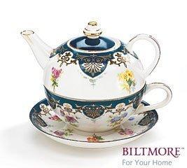 Vanderbilt Duo Porzellan Teekanne Tea For One-Set von Biltmore House Collection von Burton Burton & (Teekanne Burton Burton)