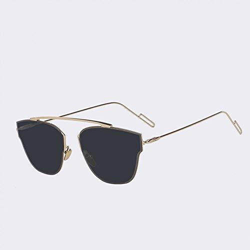GAOHAITAO Randlose Metallrahmen Frau Brille Sonne Vintage Damenmode Sonnenbrillen Markendesigner Pink Flash Lens,A1