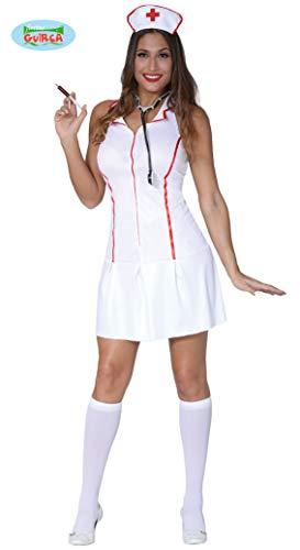 Krankenschwestern Sexy Kostüm - Sexy Krankenschwester Kleid als Karneval Kostüm für Damen in Gr. S - M , Größe:M