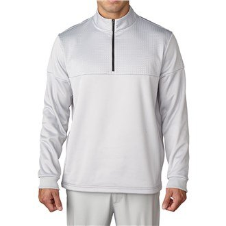 Adidas 1/4 Zip (Adidas Golf 2016 Climawarm™ 1/4 Zip Debossed Cover-up Breathable Insulation Mens Golf Pullover Stone XXL)