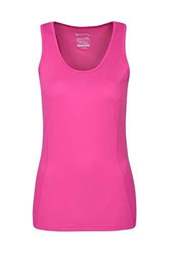 Mountain Warehouse Damen-Klimaweste - Sommer-Top, maschinenwaschbar, atmungsaktiv, schnelltrocknend, IsoCool-Stoff, feuchtigkeitstransportierend - Fitness, Walking leuchtendes Pink DE 40 (EU 42)