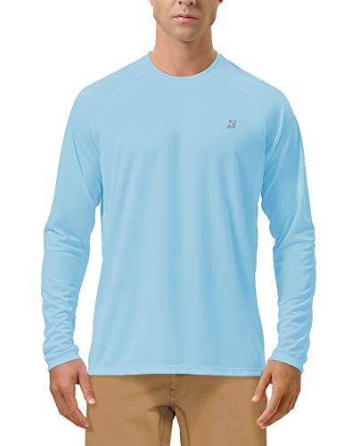 Langarmshirt Herren - Langärmliges Funktionsshirt, Rashguard UV 50 Sonnenschutz UPF 50+, Outdoor Atmungsaktives Langarmshirt für Männer, Schnelltrocknendes T-Shirt zum Surf , Laufen, Angeln, Wandern -