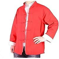 100% Algodón Rojo Chaqueta Abrigo de Artes Marciales Kung Fu/Tai Chi XL-XS o Hecho A Medida #125