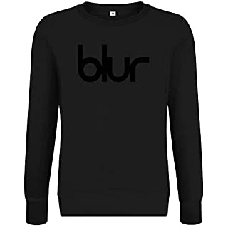 Blur Music Group Logo Sweatshirt Jumper Pullover for Men & Women Soft Cotton & Polyester Blend Unisex Clothing Medium