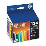 Epson DURABrite 124Moderate Kapazität Tintenpatrone, Schwarz, Cyan, Magenta, Gelb–Inkjet–170Seite–4/Pack–t124120-bcs