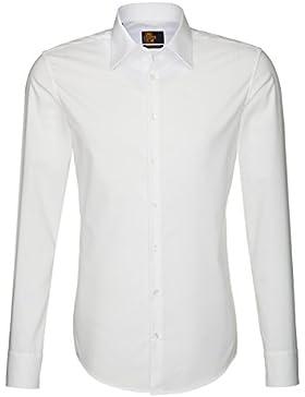 SEIDENSTICKER Herren Hemd Slim 1/1-Arm Bügelfrei Uni / Uniähnlich City-Hemd Kent-Kragen Manschette weitenverstellbar
