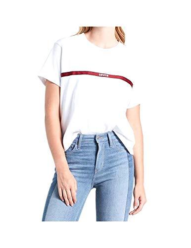 Levi's® Damen T-Shirts Graphic Varsity Text Tape weiß M -