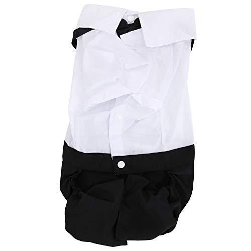 Mootea Lustiger Haustier-Hundewelpen kleidet Mode-Anzug-Hochzeitsfest-Kostüm Black & (Billig Lustige Kostüm Männer)