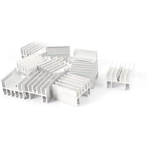 10 Pz 25mm x 23mm x 16mm Dissipatore In Alluminio per Transistor Di Potenza FET - Potenza Fet