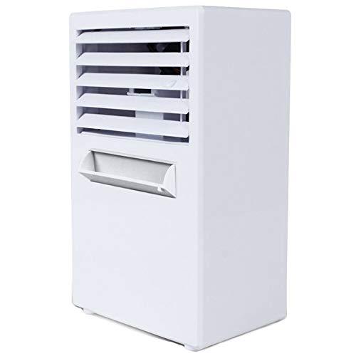 SODIAL Climatiseur Ventilateur,Petit Ventilateur De Bureau Silencieux Ventilateur De Table Circulateur Refroidisseur Humidificateur sans Lame Silencieux pour Bureau EU Plug Blanc