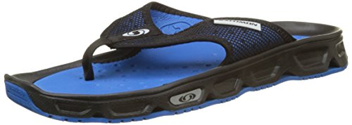 Salomon Herren RX Break Flipflops, Schwarz/Blau (Black/Imperial Blue/Pearl Blue), Gr. 45 1/3