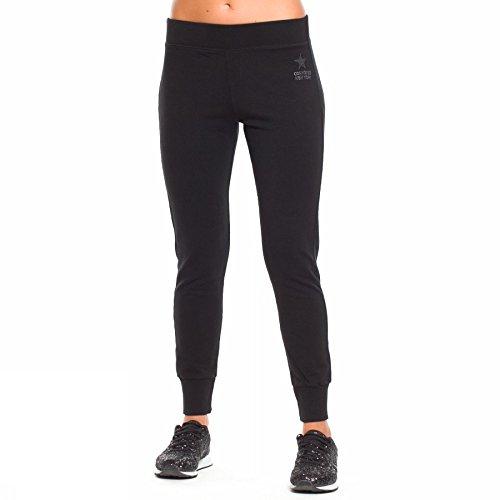 Pantalone donna in felpa Converse, mod. Fl Pant Logo Lady Classic Rib, art. 6FD510GA, colore nero