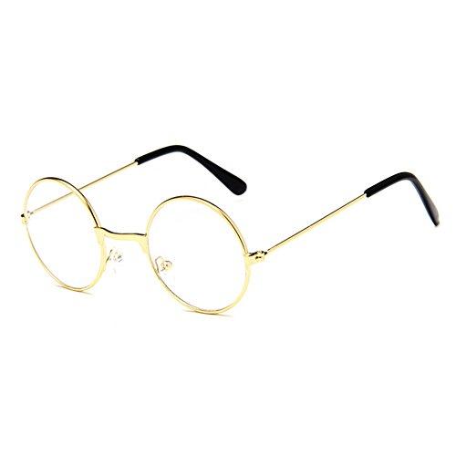 juqilu Rund Retro Gläser für Kinder - Jungen und Mädchen Transparente Linsen Lesen Gläser Metall Brillenfassung Klassisches Brille mit Auto Form Brillenetui