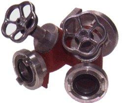 Storz-Verteiler-2-fach mit Ventilabsperrung 1x 52-C, 2x 52-C
