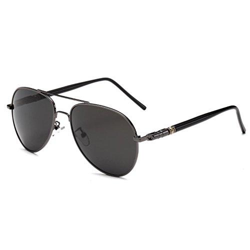 rnow da uomo Premium Classico Stile Militare Full a specchio occhiali da sole Aviator, unisex Ragazzi Bambino Uomo donna, Grey