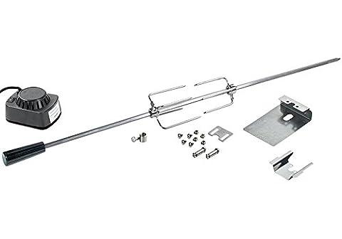 Edelstahl Rotisserie 110 cm - Motor 240V - einsetzbar für diverse Modelle - Grillspieß, Drehspieß