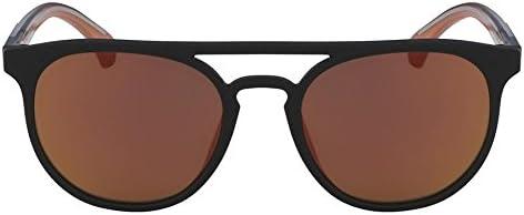 Calvin Klein Round Sunglasses For Unisex - Orange Lens, Ckj822S-002, 140 mm
