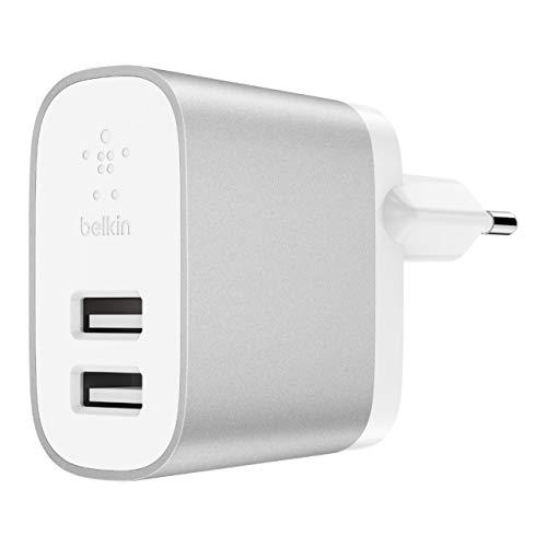 Belkin Boost Charge 2-Port Netzladegerät (24 W, geeignet für iPhone XS, XS Max, XR, Samsung Note9, S9, S9+ und andere Geräte) (Netzteil Belkin)