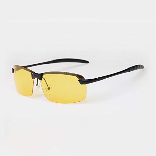 MWPO Polarisierte Sonnenbrille Metallic Herren Riding Night Vision Driving Brille (Farbe: Black Frame Nachtsichtglas)