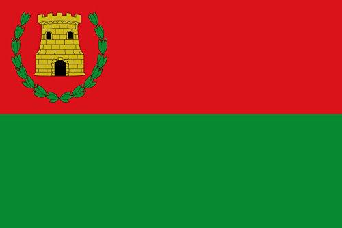 Unbekannt Flagge Almedíjar Spain | Almedíjar, in Castellón province, Spain | Proporciones 2 3. Por mitad en alto | Querformat Fahne | 0.06m² | 20x30cm für Diplomat-Flags Autofa (Jar Alte)