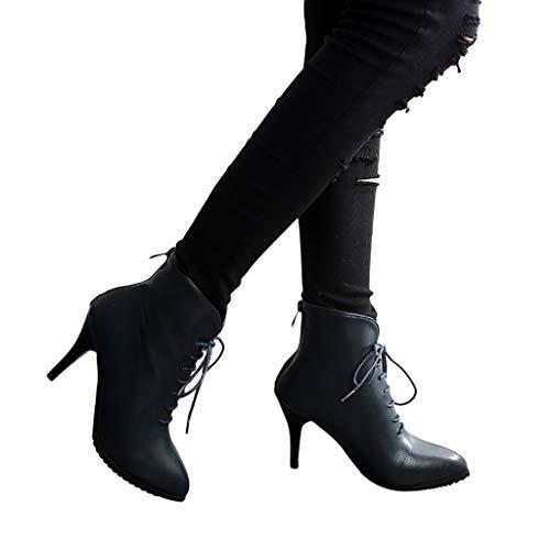 TianWlio Frauen Herbst Winter Stiefel Schuhe Stiefeletten Boots Keile High Heel Schuhe Stiefel Quaste Stiefeletten Seitlicher Reißverschluss Kurze Stiefel Blau 40