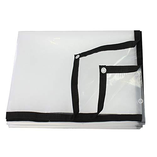 CHAOXIANG Lona De Protección Tela Impermeable Cortina De Ventana Parasol Impermeable Aislamiento Durable PE Personalizable (Color : Claro, Tamaño : 4x5m)
