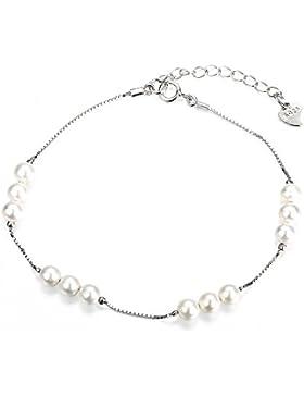 925Silber Armband mit, Perle für Valentine 's Day