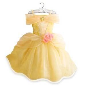 Belle Aufleuchten-Kostüm-Kleid für Kinder Größe 11/12 (Belle Deluxe Kind Kostüme Disney)