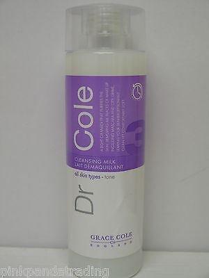 3 x Dr Cole lumière Lait Nettoyant Démaquillant Tous les types de peau 3 x 200 ml