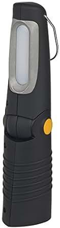 Brennenstuhl Lampe portable avec 8 + 5 LED (240 + 30 lm), lampe rechargeable avec 2 chargeurs & 2 modes de commutation, noir & gris, Quantité : 1
