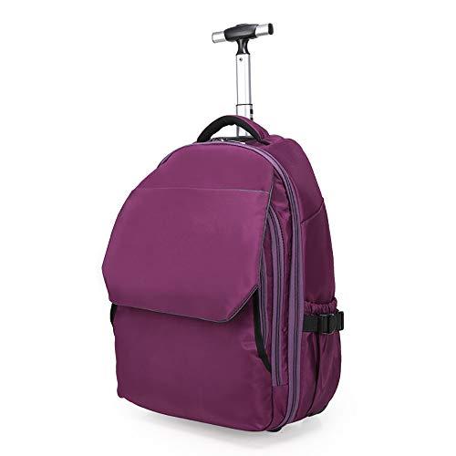 DWhui Rollbarer Laptop-Rucksack, College-Rucksack, Rolling-Laptop-Tasche, Business-Rucksack, Reiserucksack, Handgepäck-Rucksack für Männer und Frauen (Frauen Rolling Laptop Tasche)