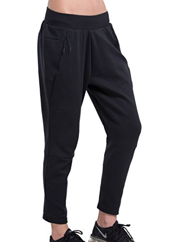 red-plume-donna-tinta-unita-loose-gamba-pantaloni-jogging-bottoms-palestra-in-esecuzione-esercizi-sp