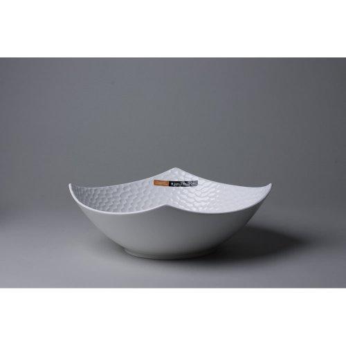 Bastide Diffusion - Assiette calotte blanche en porcelaine (par6)