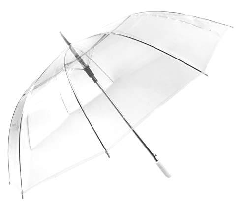 Montagsliebe® Partnerschirm XXL transparent Hochzeit Stockschirm Regenschirm 124cm durchsichtig
